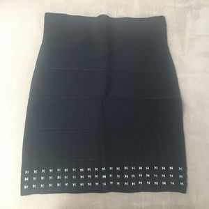 BCBG bandage skirt with studs